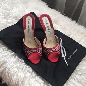 Brian Atwood Mule Sandal Heels